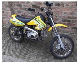 110cc 4 stroke pit bike for motocross tracks
