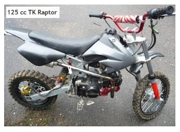 125cc TK raptor pit bike