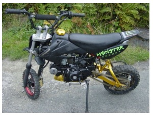 125cc modified offroad pitbike for sale