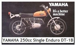 1969 YAMAHA 250cc Single Enduro DT 1B