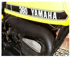 1973 YAMAHA 360 YZ tank dirt bike graphic