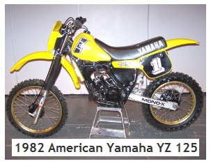 old Yamaha dirt bikes a 1982 american yamaha YZ125 motocross bike