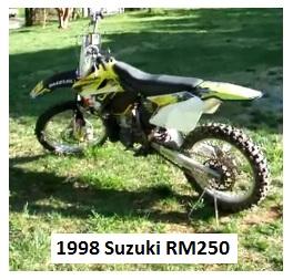 1998 Suzuki RM250 dirt bike