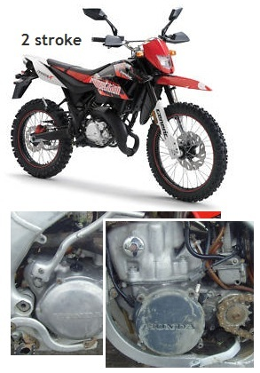 2 stroke MX motos two stroke pit bikes
