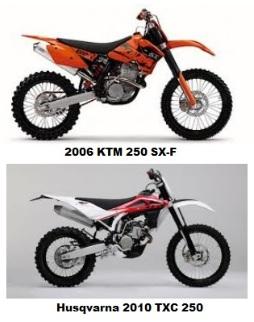 2006 KTM 250 SX-F and the Husqvarna 2010 TXC 250