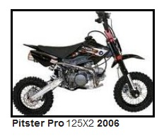 2006 Pitster Pro 125X pitbike