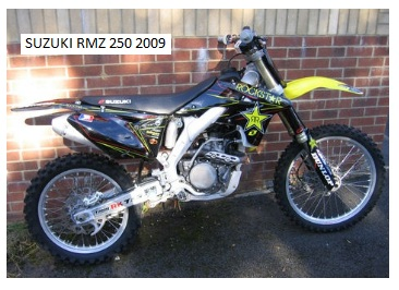2009 Suzuki RMZ 250 mx bike for £2399 sounds good