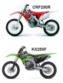 2010 kawasaki KX250F and honda CRF250-R