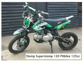 2011 Stomp Superstomp 120 Pitbike with a 125cc engine