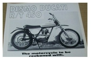 1971 Ducati 450 RT MX bike