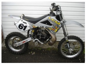 50cc gas powered MX mini dirt bike