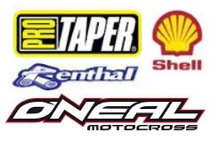 A selection of motocross stickers