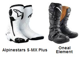 ALPINESTARS S-MX plus MX Boots ONEAL ELEMENT MOTOCROSS BOOTS