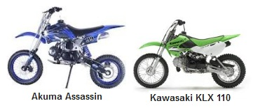 Akuma Assassin PitBike and the Kawasaki KLX110