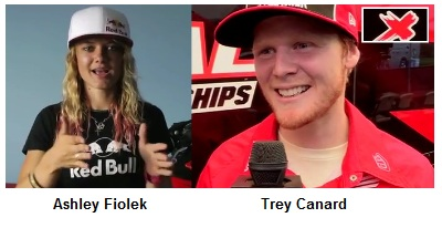 Ashley Fiolek and Trey Canard are part of honda motocross