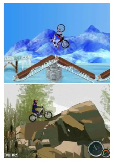 Bike Mania on Ice and Moto Trial Fest games