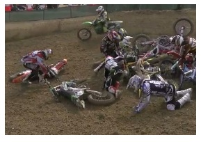 Crashing into the motocross action