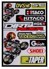 Custom Motocross Decals for minibikes
