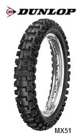 Dunlops premium MX51 FMX dirt bike tires