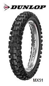 Dunlops premium MX51 FMX dirt bike tires