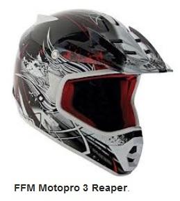 FFM Motopro 3 Reaper dirt bike helmet