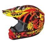 FLY Kinetic dirt bike Graffiti MX Helmet