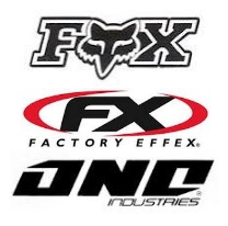 Fox Racing Factory Effex One Industries decals and stickers