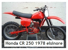 Honda CR 250 1978 elsinore evo vintage motocross bike