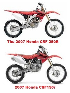 Honda Crf150r 2007 Model And The Honda CRF 250R