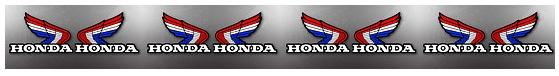 Honda logo vintage classic look dirtbike motocross wing