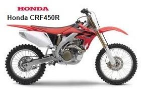 Honda motocross bike CRF 450R 2007
