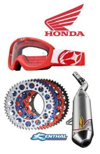 Honda motocross motorbike Accessories.