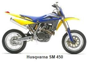 Husqvarna sm 450 motorbike