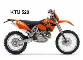 the KTM 520 motocross dirtbike
