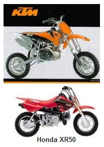 KTM Pro 50 and the 2001 Honda XR50