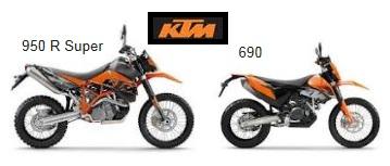 KTM enduros 690 and 950R super enduro