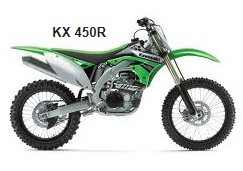 KX450R Kawasaki dirt bike for motocross