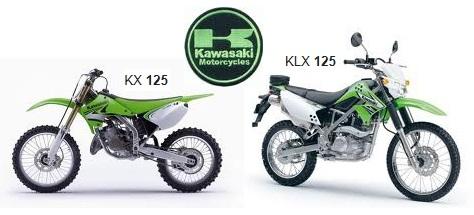Kawasaki 125cc dirtbikes kx125 klx125