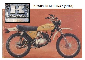 Kawasaki KE 100 A7 1978 classic old dirtbike