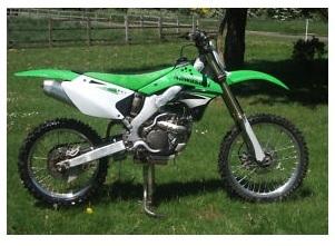 Kawasaki The KX250 motobike dirtbike used