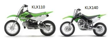 Kawasaki motocross bikes klx110 klx140
