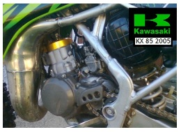 Kawasaki used KX85 2005 dirtbike engine
