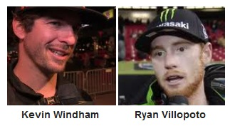 Kevin Windham and Ryan Villopoto dirtbike stars