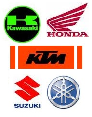 Main manufacturers of dirt bikes Honda Kawasaki Suzuki Yamaha Ktm