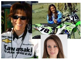 Mercedes Gonzalez from Madrid and Sara Price Kawasaki Team Green
