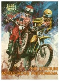 Motocross dirt bike stadium posters for sale