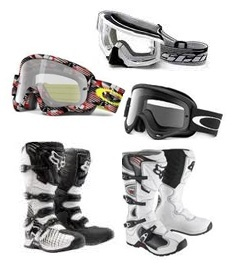 Motorcross goggles Motorcross and dirt bike boots