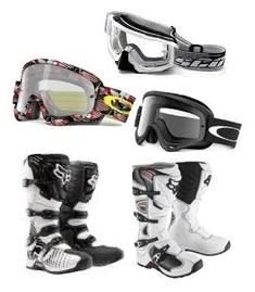 Motorcross goggles Motorcross and dirt bike boots
