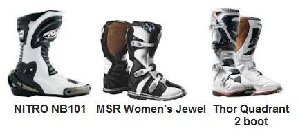 Nitro racing nb101 boots msr womens jewel motocross boots thor