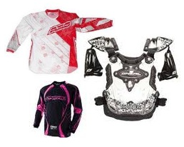 Oneal Youth Girl Pink Jersey AXO Jr Sport Jersey Hammer Chest Protector